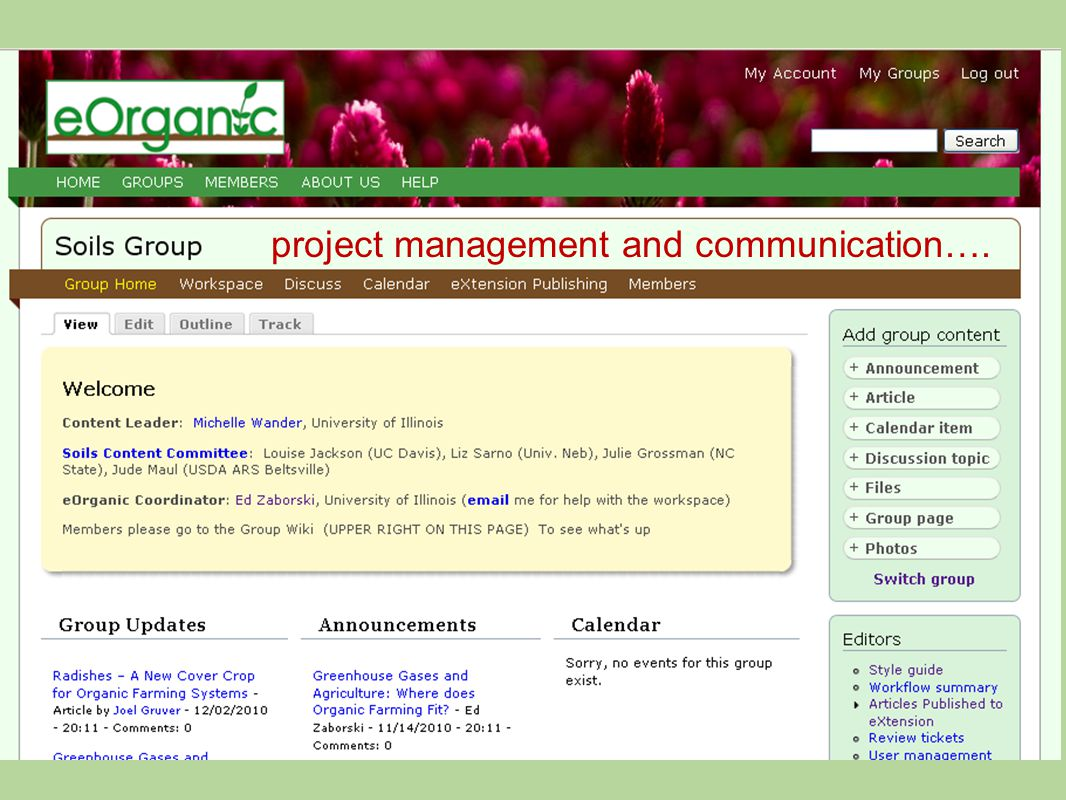 project management and communication….