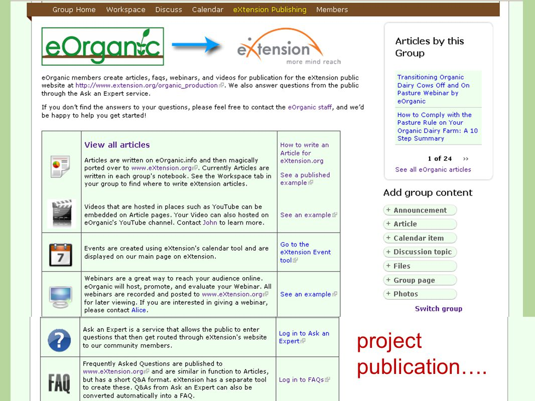 project publication….