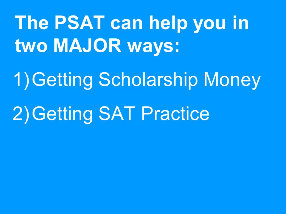 Sample PSAT Questions