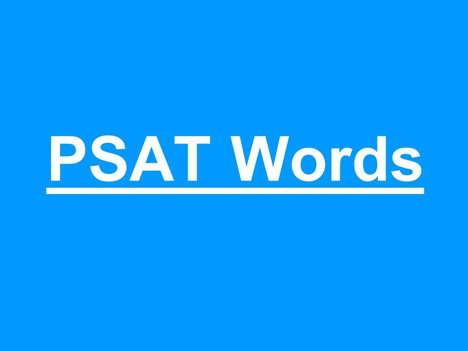 PSAT Words