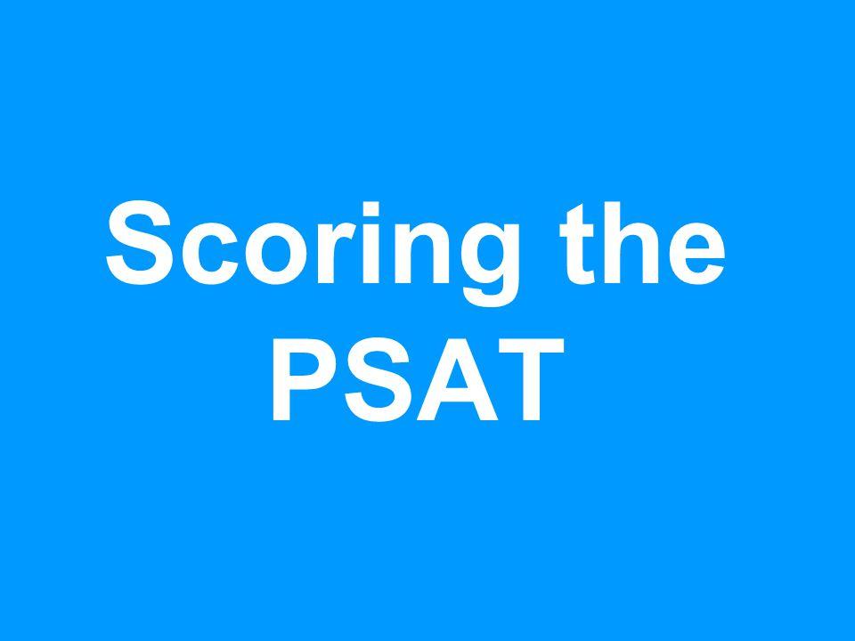 Scoring the PSAT