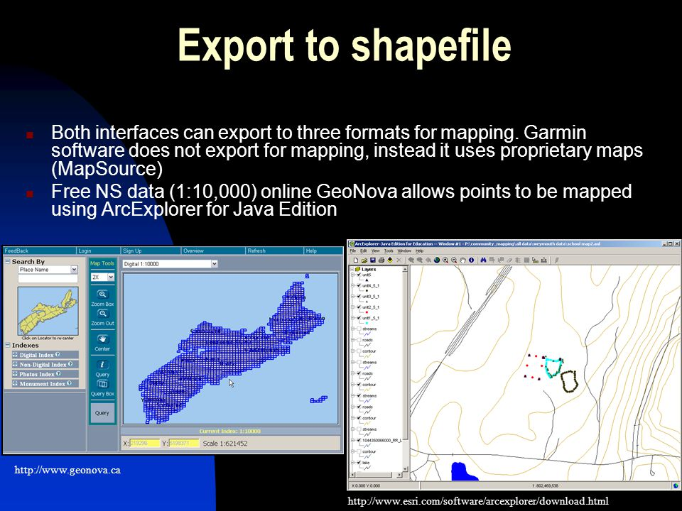 9 Creating a map – using Education versions Once the data is in the mapping software a layout can be created and a jpeg can be saved to be shared