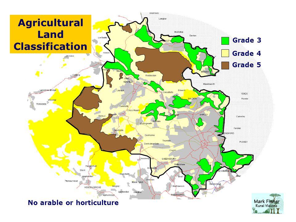 Agricultural Land Classification Grade 3 Grade 4 Grade 5 No arable or horticulture