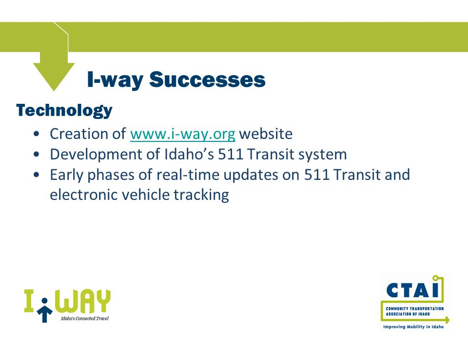 I-way In Action - Lewiston Gap in service requiring individuals to walk across a bridge to access local transportation services.