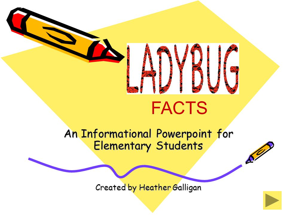 An Informational Powerpoint for Elementary Students Created by Heather Galligan FACTS