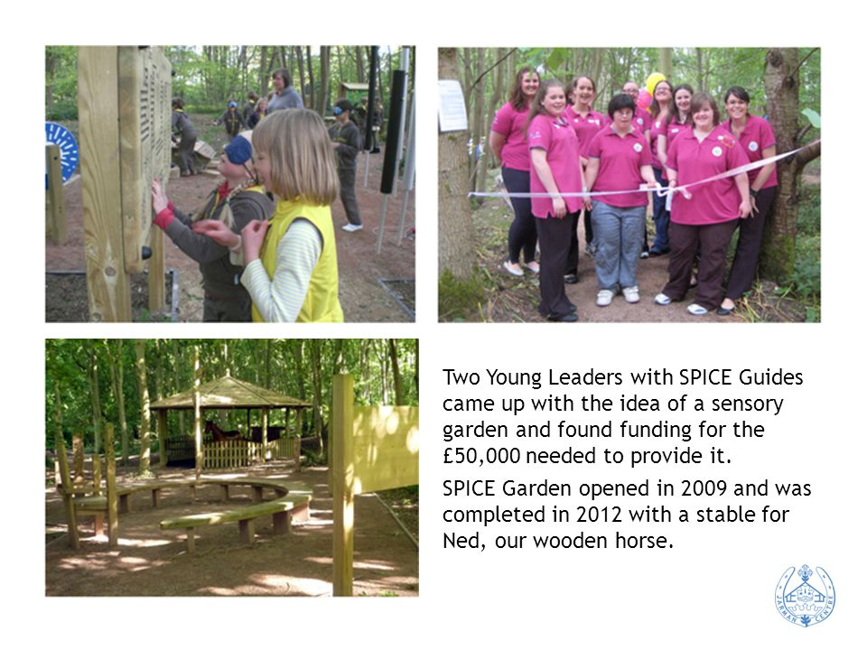 Two Young Leaders with SPICE Guides came up with the idea of a sensory garden and found funding for the £50,000 needed to provide it.