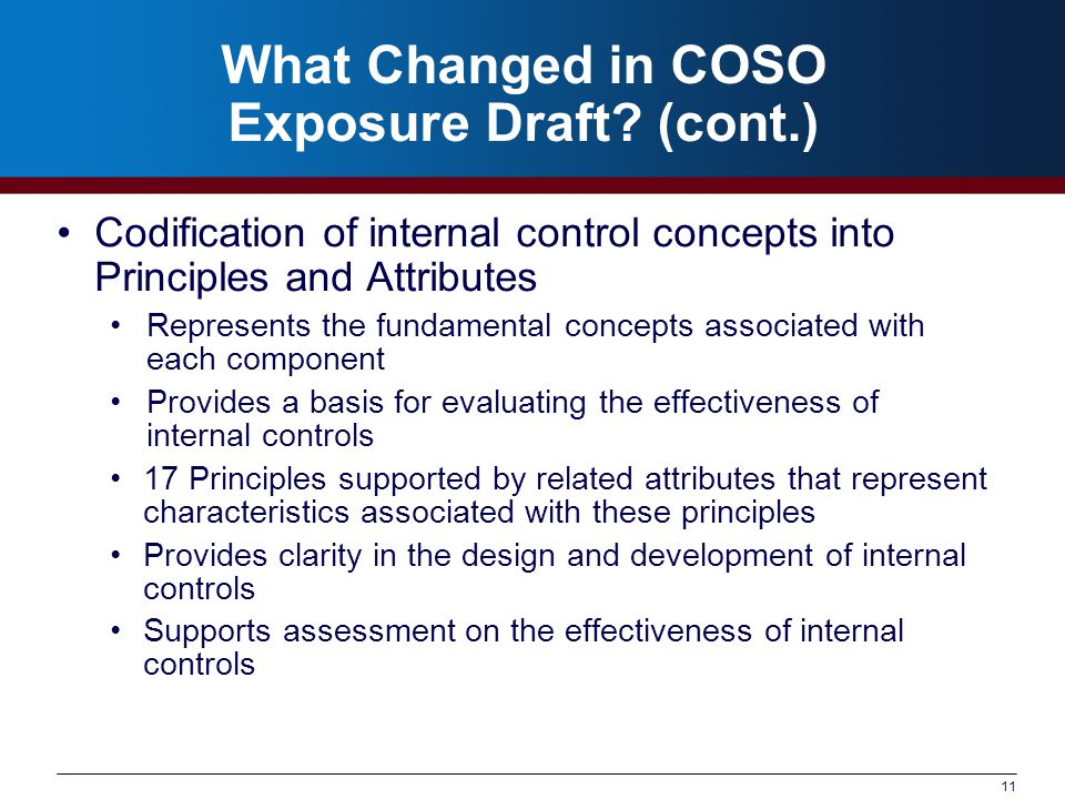 What Changed in COSO Exposure Draft.