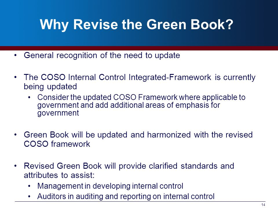 Why Revise the Green Book.