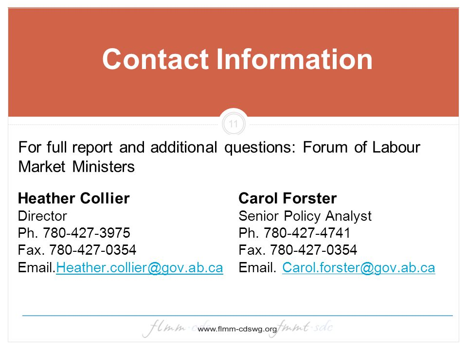 11 Contact Information Heather Collier Director Ph.
