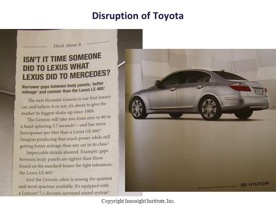 Disruption of Toyota Copyright Innosight Institute, Inc.