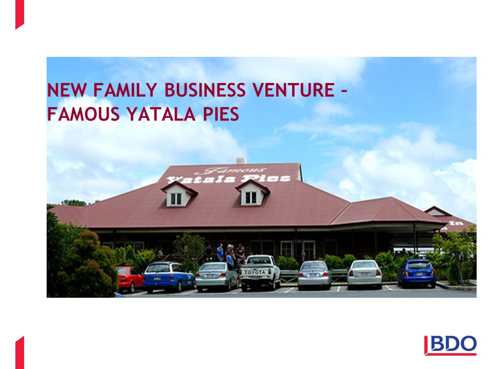NEW FAMILY BUSINESS VENTURE – FAMOUS YATALA PIES