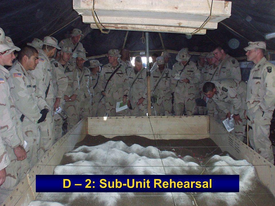 D – 2: Sub-Unit Rehearsal