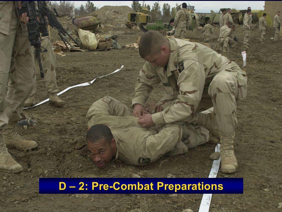 D – 2: Pre-Combat Preparations