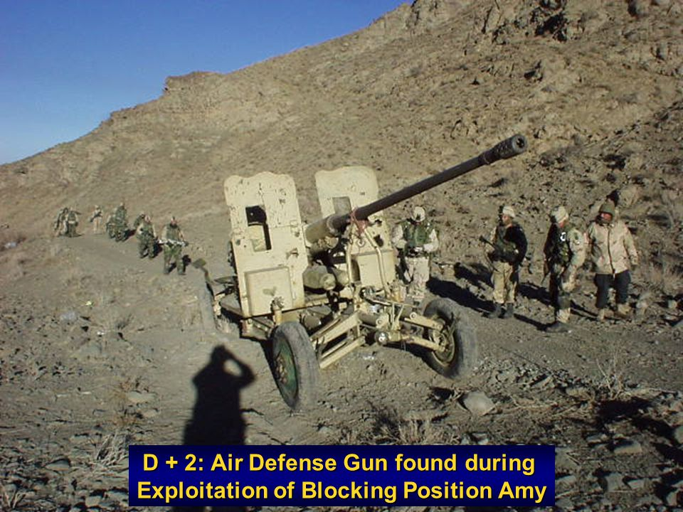 D + 2: Air Defense Gun found during Exploitation of Blocking Position Amy