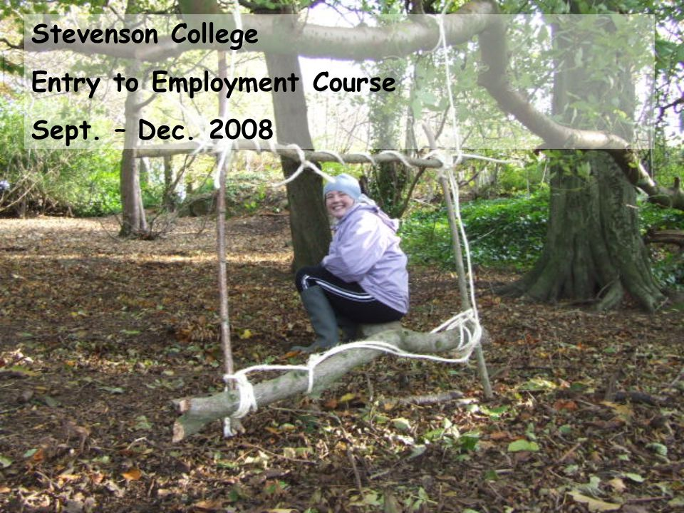 Stevenson College Entry to Employment Course Sept. – Dec. 2008