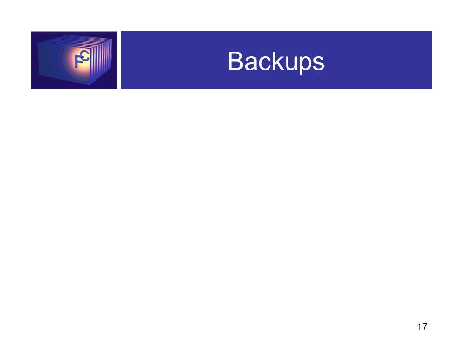 17 Backups
