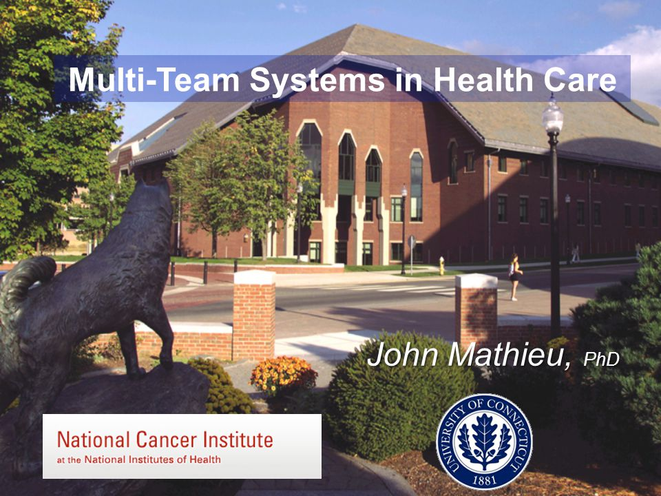 Multi-Team Systems in Health Care John Mathieu, PhD
