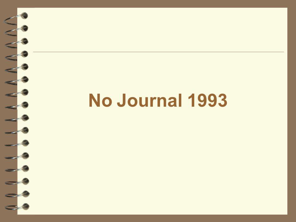 No Journal 1993