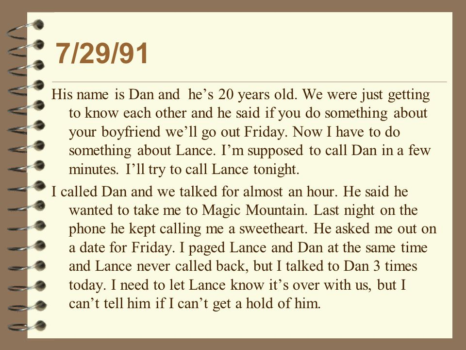 3/11/92 and 3/18/92 I drove to school, and Dan was still there after school.