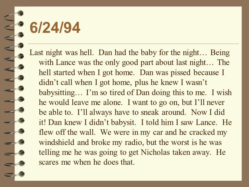 6/24/94 Last night was hell.