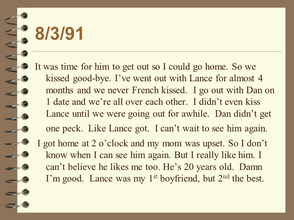 2/23/94 and 3/2/94 He has to get another job soon because now he has a baby to support.