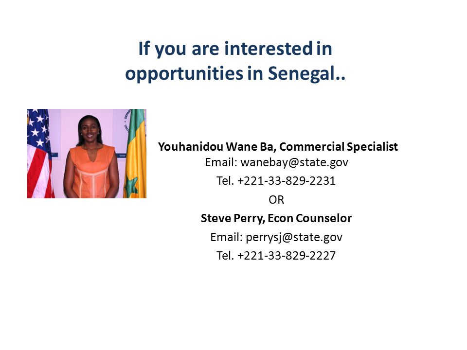 If you are interested in opportunities in Senegal..