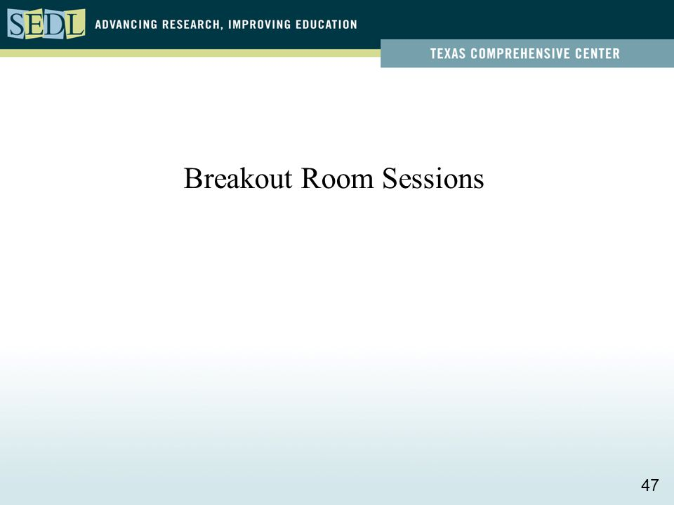 Breakout Room Sessions 47