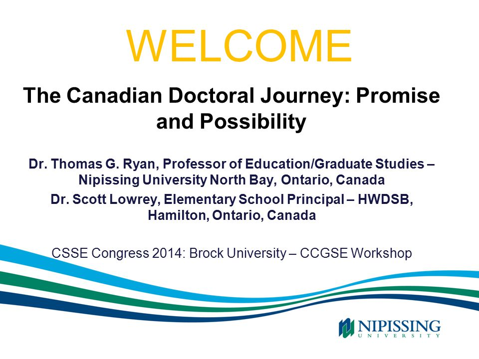 The Doctoral Journey: Perseverance Thomas G.