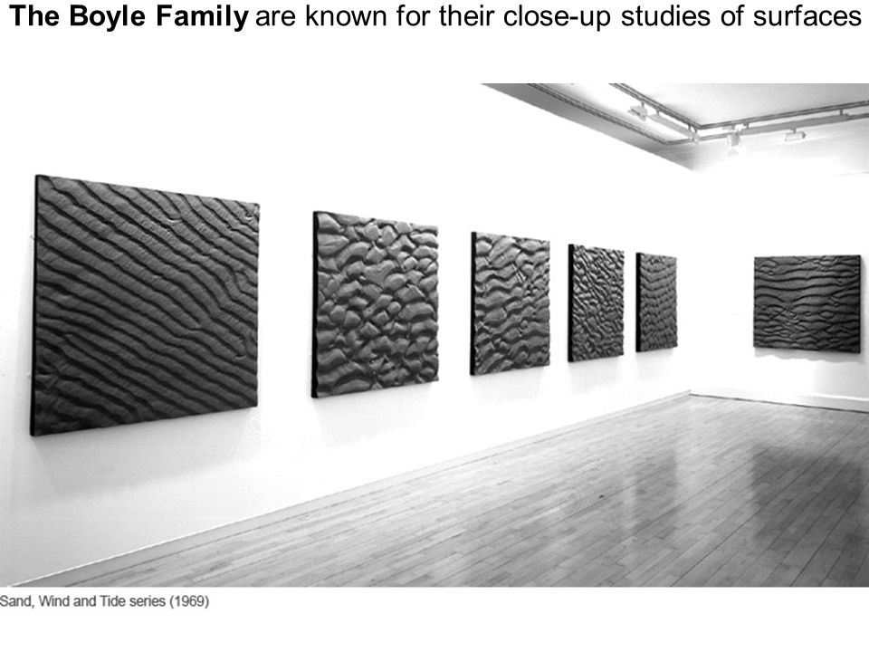 Boyle Family have worked together for more than 30 years producing an art that scrutinises and replicates fragments of reality.