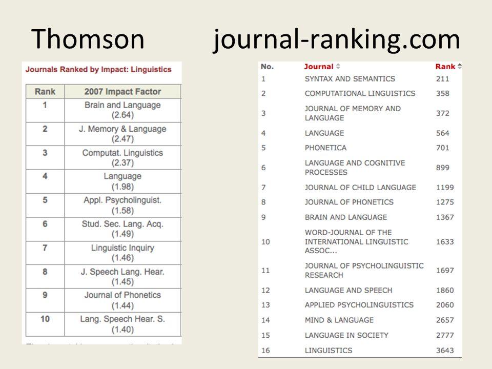 Thomson journal-ranking.com