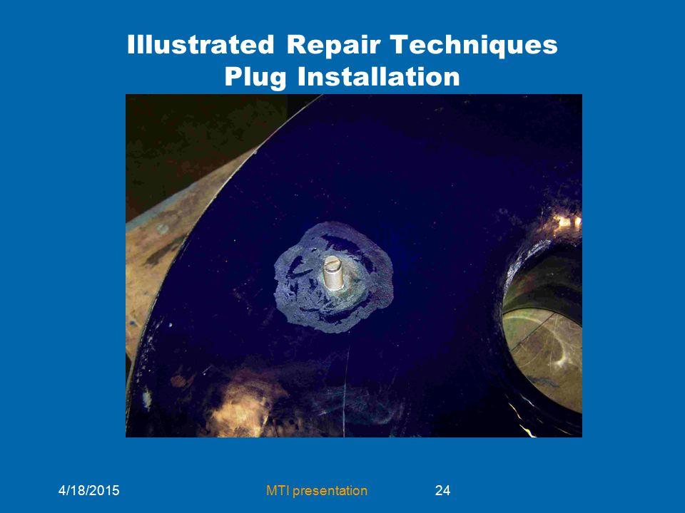 4/18/2015MTI presentation24 Illustrated Repair Techniques Plug Installation