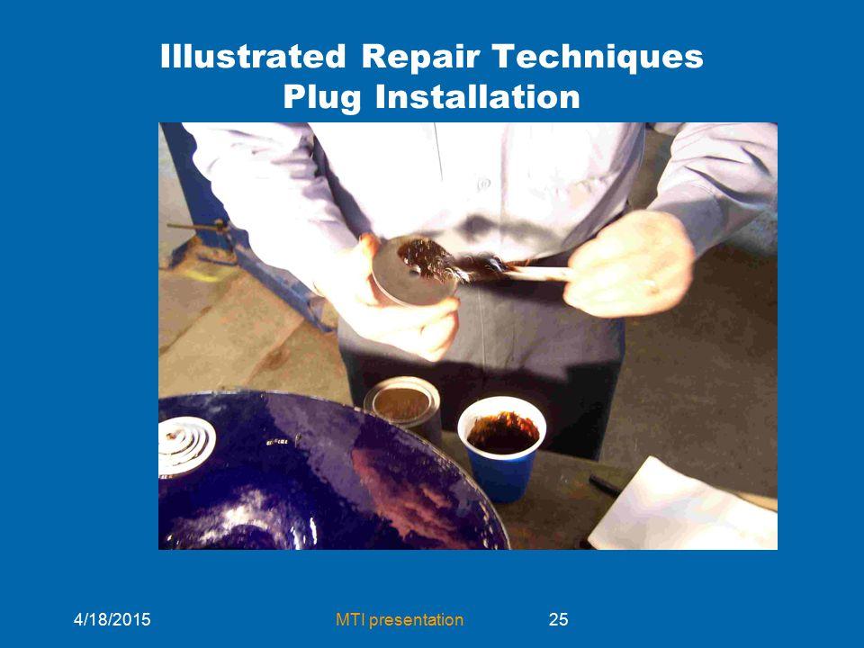 4/18/2015MTI presentation25 Illustrated Repair Techniques Plug Installation