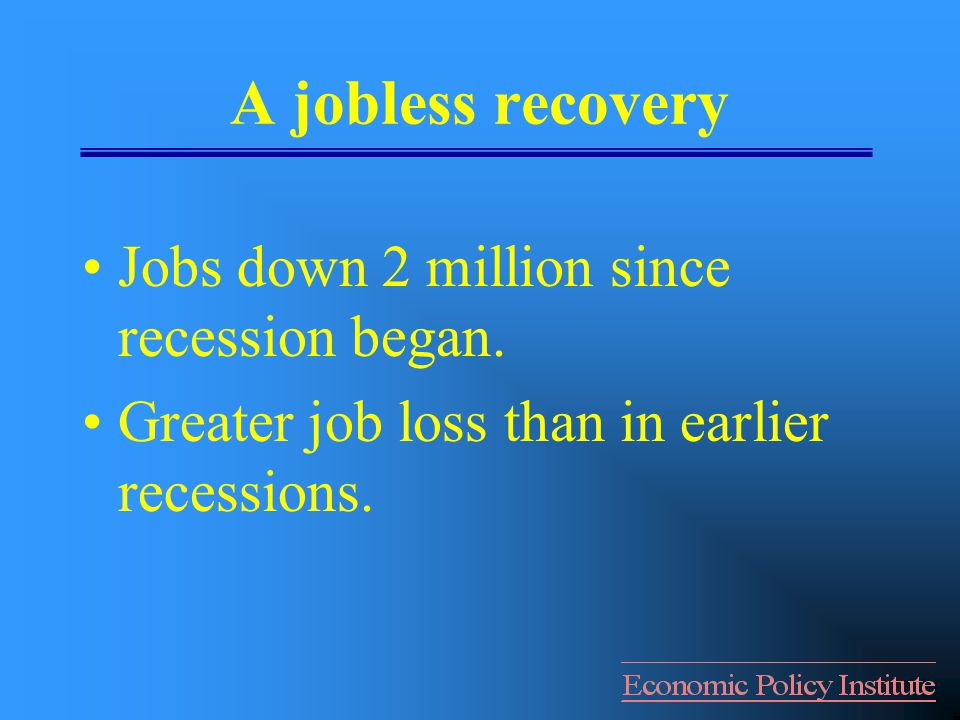 1.Generate Growth and Jobs Create more customers (i.e., demand)--consumers & government.