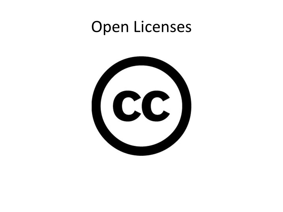 Open Licenses