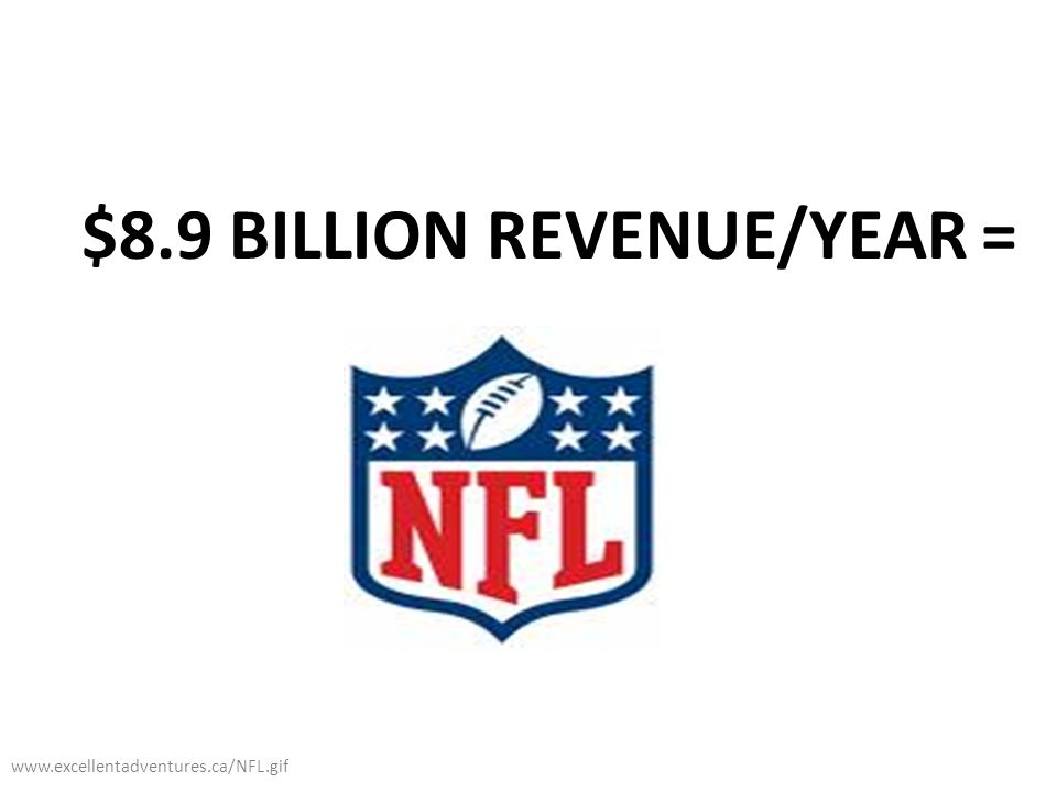 $8.9 BILLION REVENUE/YEAR = www.excellentadventures.ca/NFL.gif