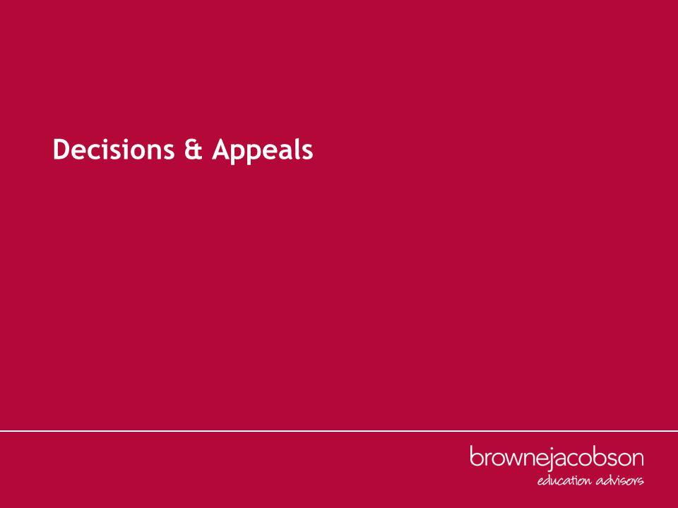 Decisions & Appeals