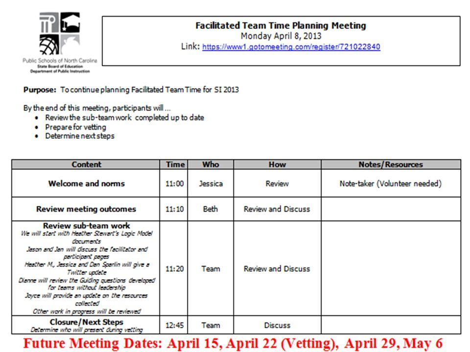 Important Dates Apr.8-12: Content for Sessions complete Apr.
