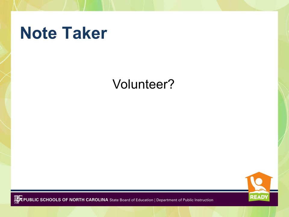 Note Taker Volunteer