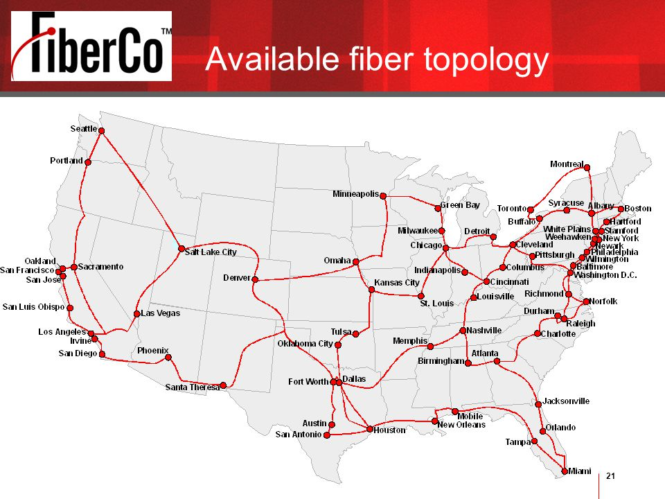 21 Available fiber topology