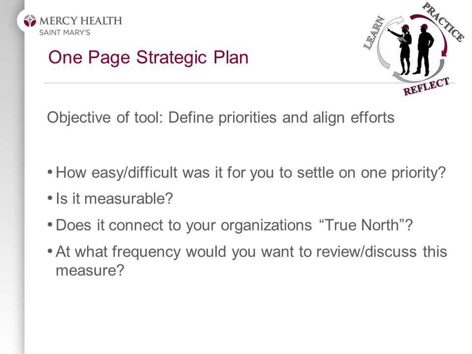 Objective of tool: Define priorities and align efforts How easy/difficult was it for you to settle on one priority.