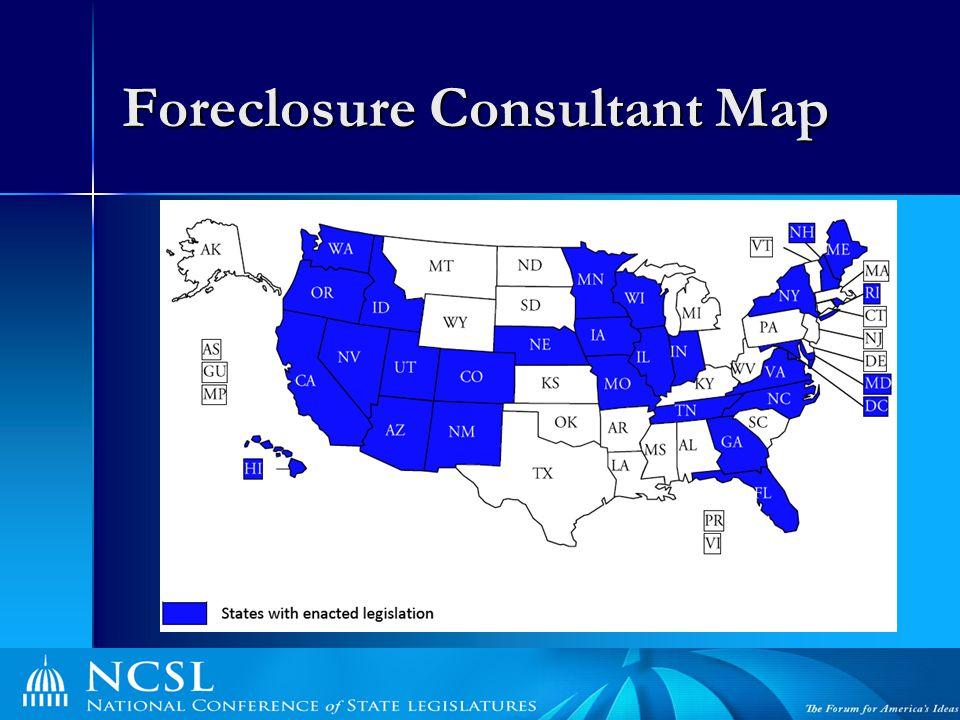 Foreclosure Consultant Map