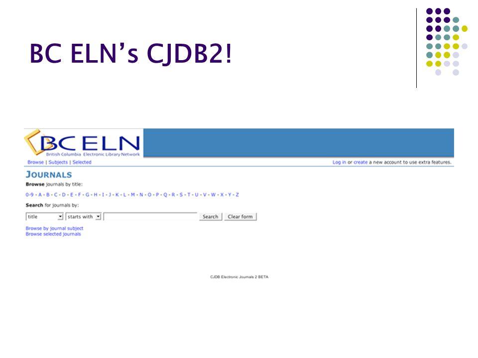 BC ELN's CJDB2!