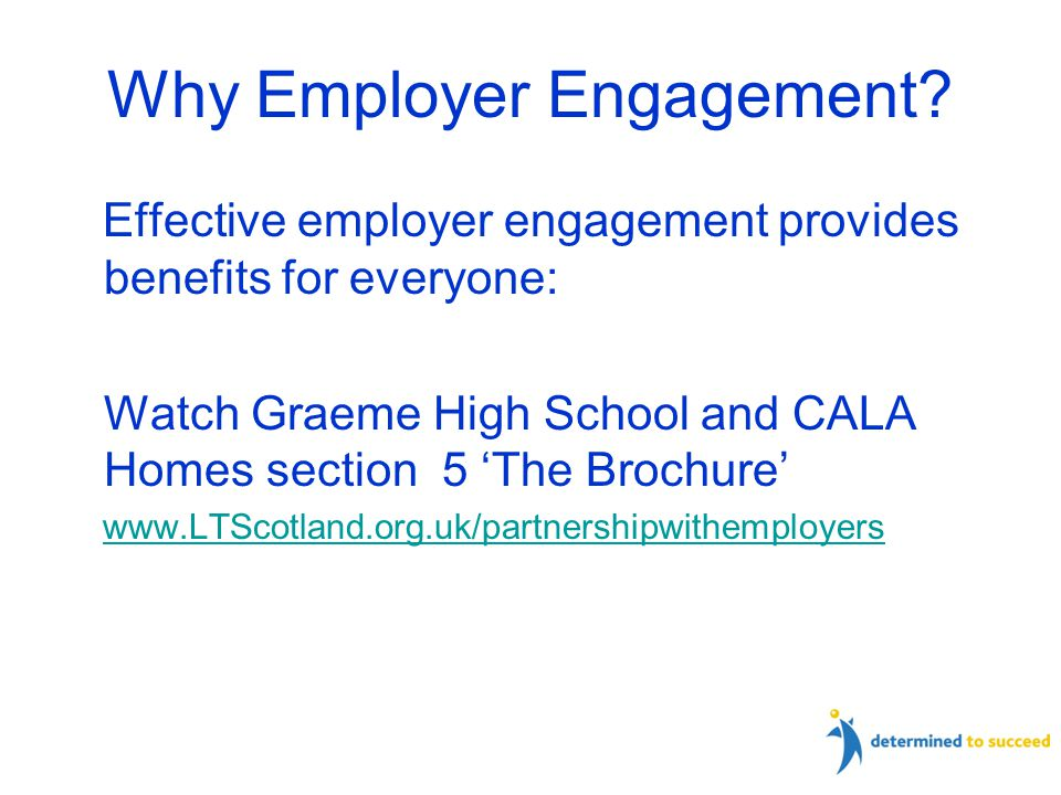 Why Employer Engagement.