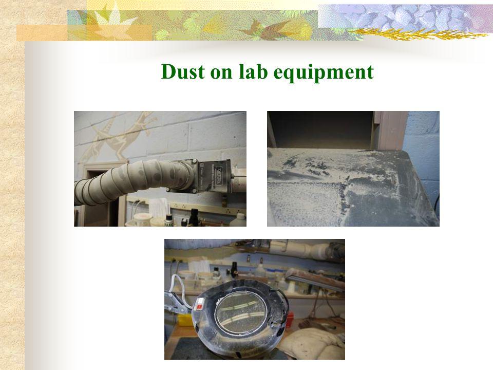 Dust on lab equipment
