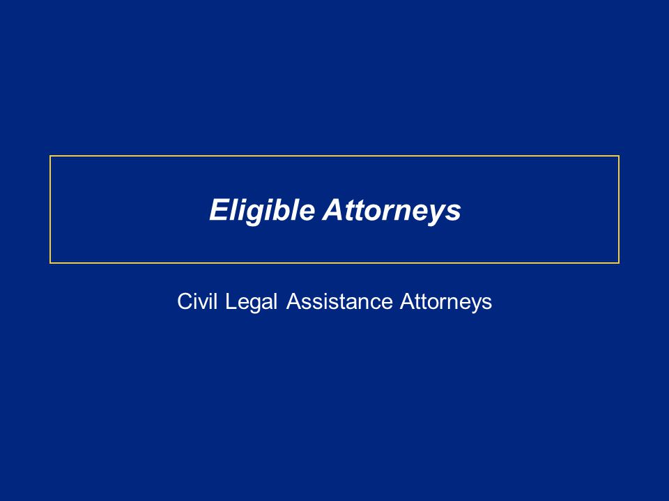 At the time of application, attorneys must be licensed to practice law, and a full-time employee of either a –nonprofit organization that provides legal assistance with respect to civil matters to low-income individuals without a fee, or