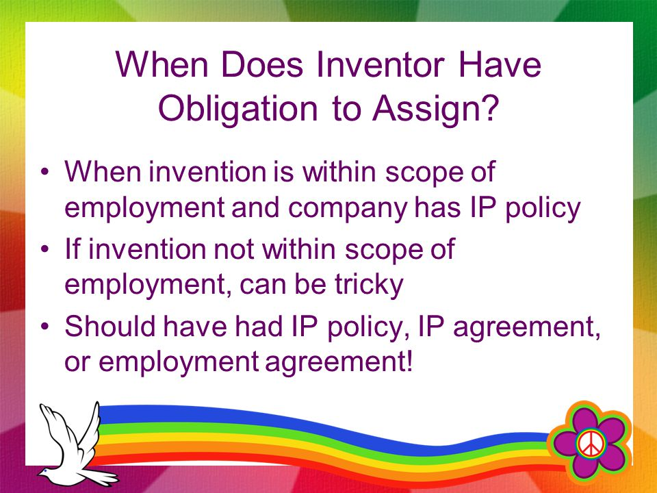 When Does Inventor Have Obligation to Assign.