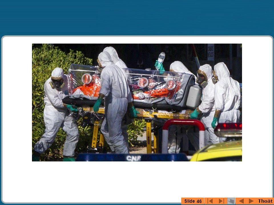 Thoát Slide 45 Hình ảnh bệnh nhân Ebola người Anh được đưa tới London