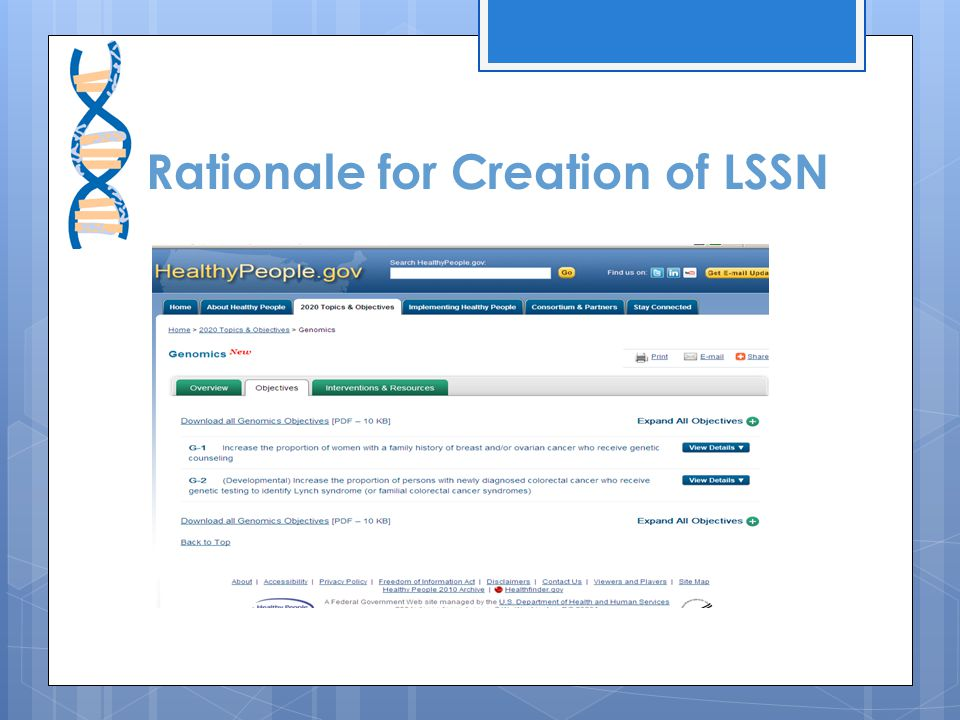 Rationale for Creation of LSSN