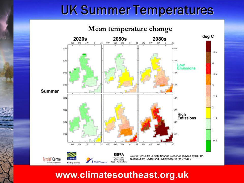 www.climatesoutheast.org.uk UK Summer Temperatures