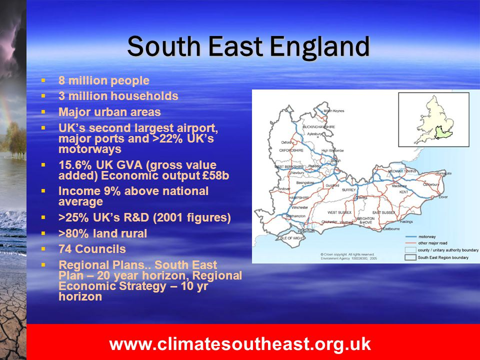 www.climatesoutheast.org.uk What it means..